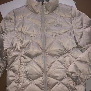 North Face cream/silver Jacket